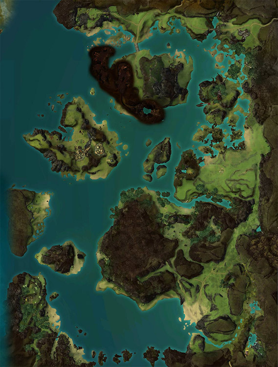 map of Bloodtide Coast
