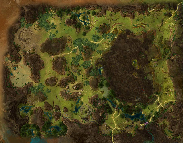 map of Brisban Wildlands
