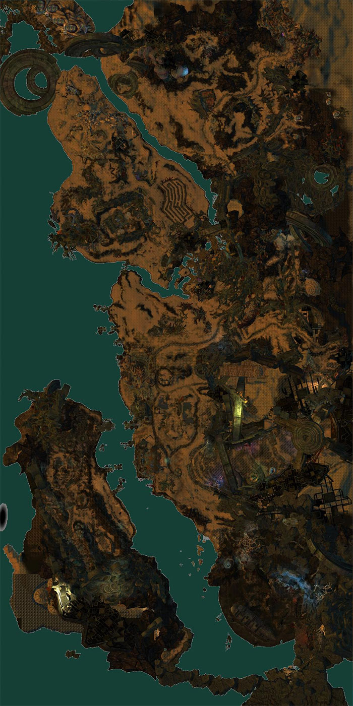 Cursed Shore Map of POIs, Waypoints, Vistas, Skills and more