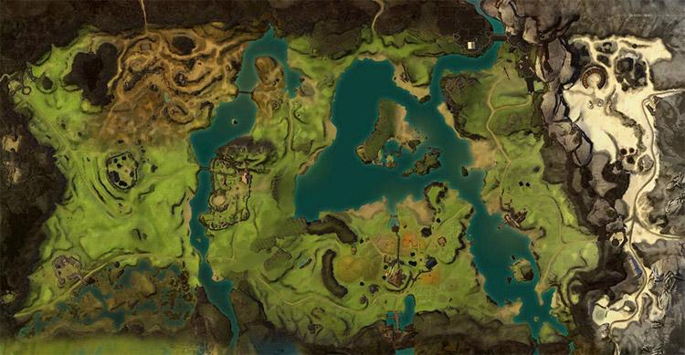 Gw2 Karte.Gendarran Fields Map Of Pois Waypoints Vistas Skills And More