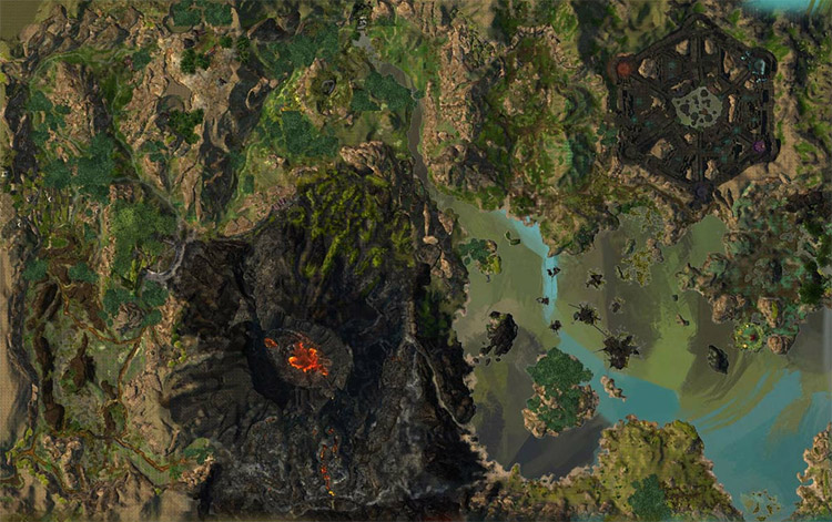 map of Mount Maelstrom