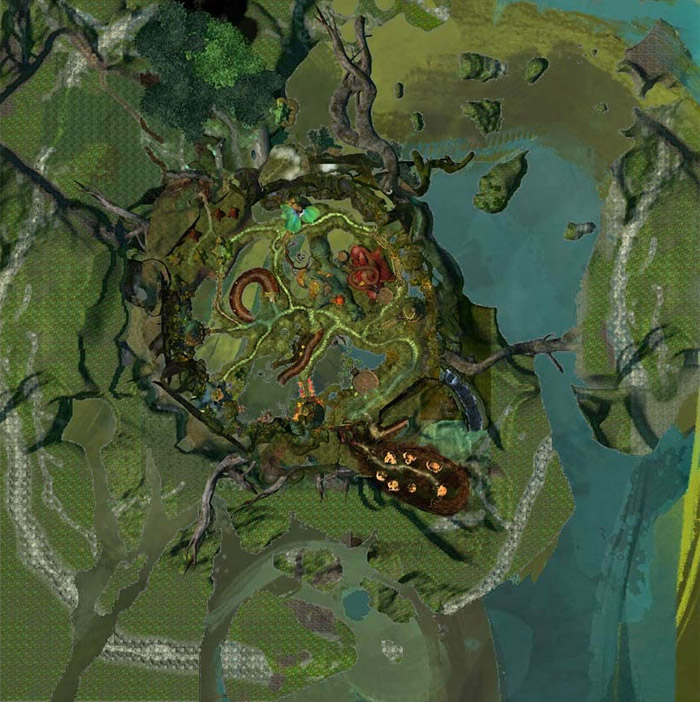 The Grove Map of POIs Waypoints Vistas Skills and more Guild