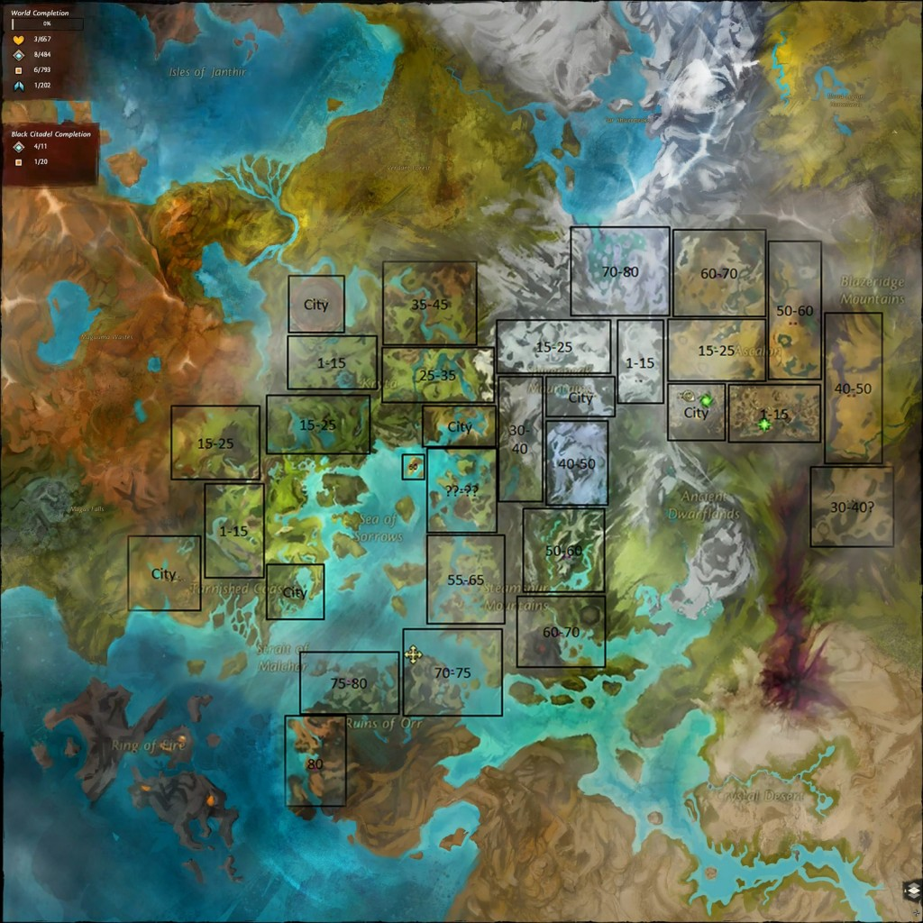 Interactive Map of Tyria