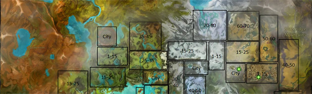 Guild Wars 2 Tyria level map