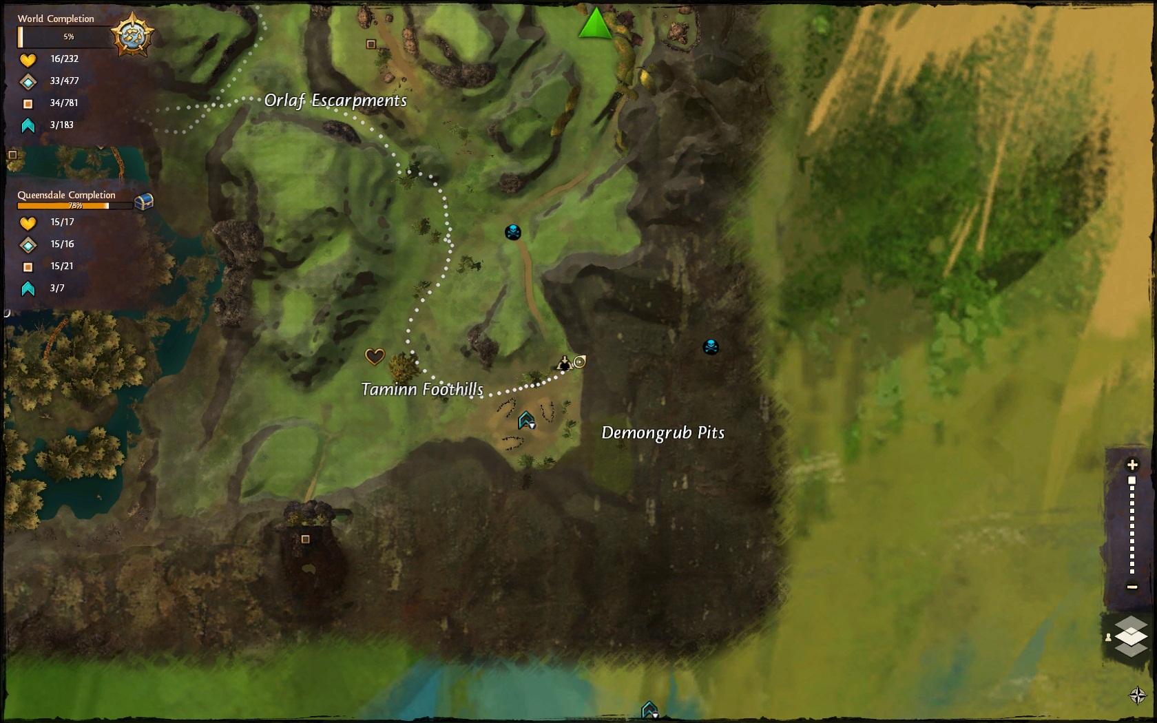 Demongrub Pits cave map