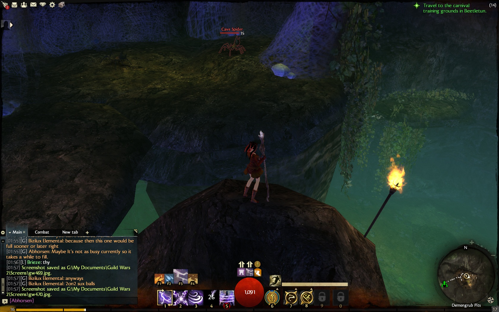 gw2 Demongrub Pits jumping route