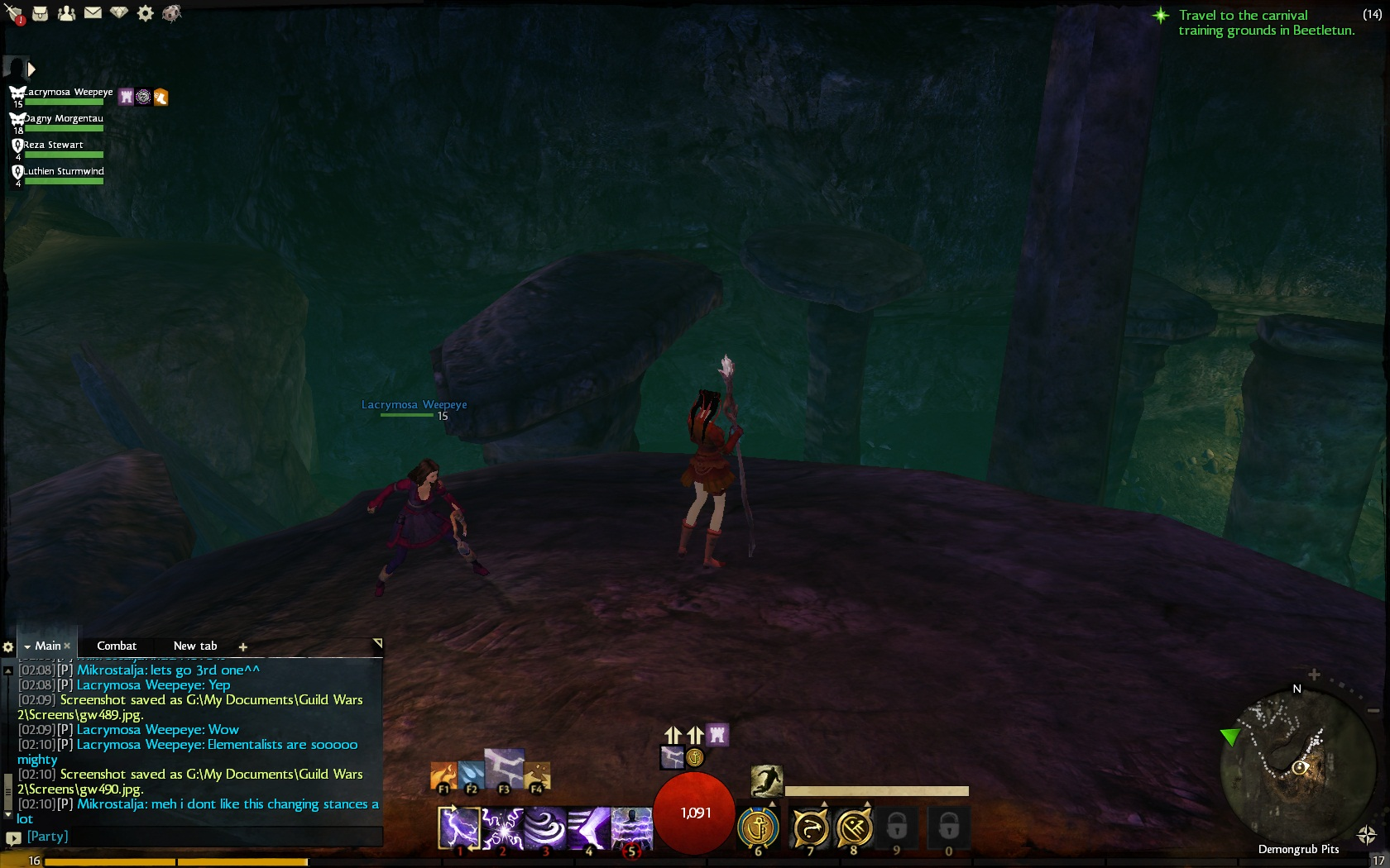 route to the second treasure chest