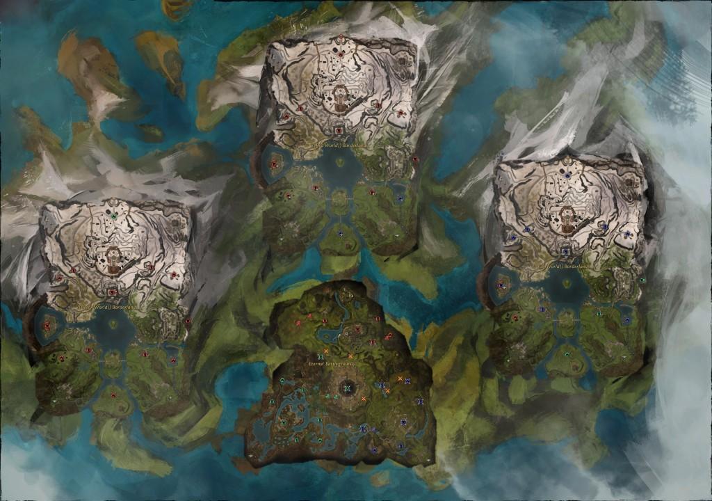 Guild Wars 2 World vs World map