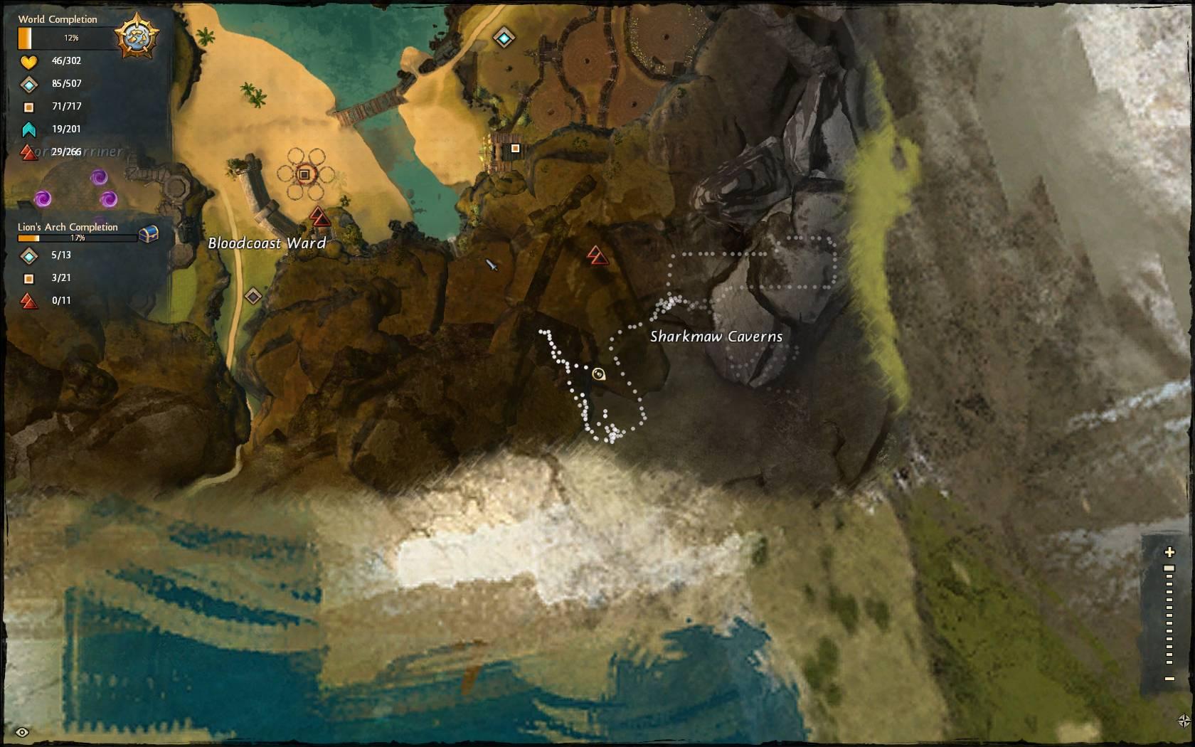 weyandt's revenge achievement map