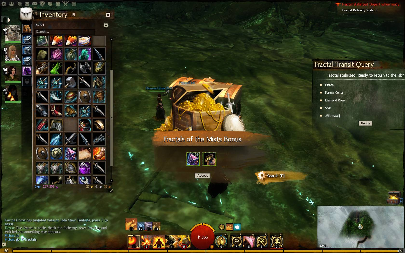 gw2 how to get fractal back pack