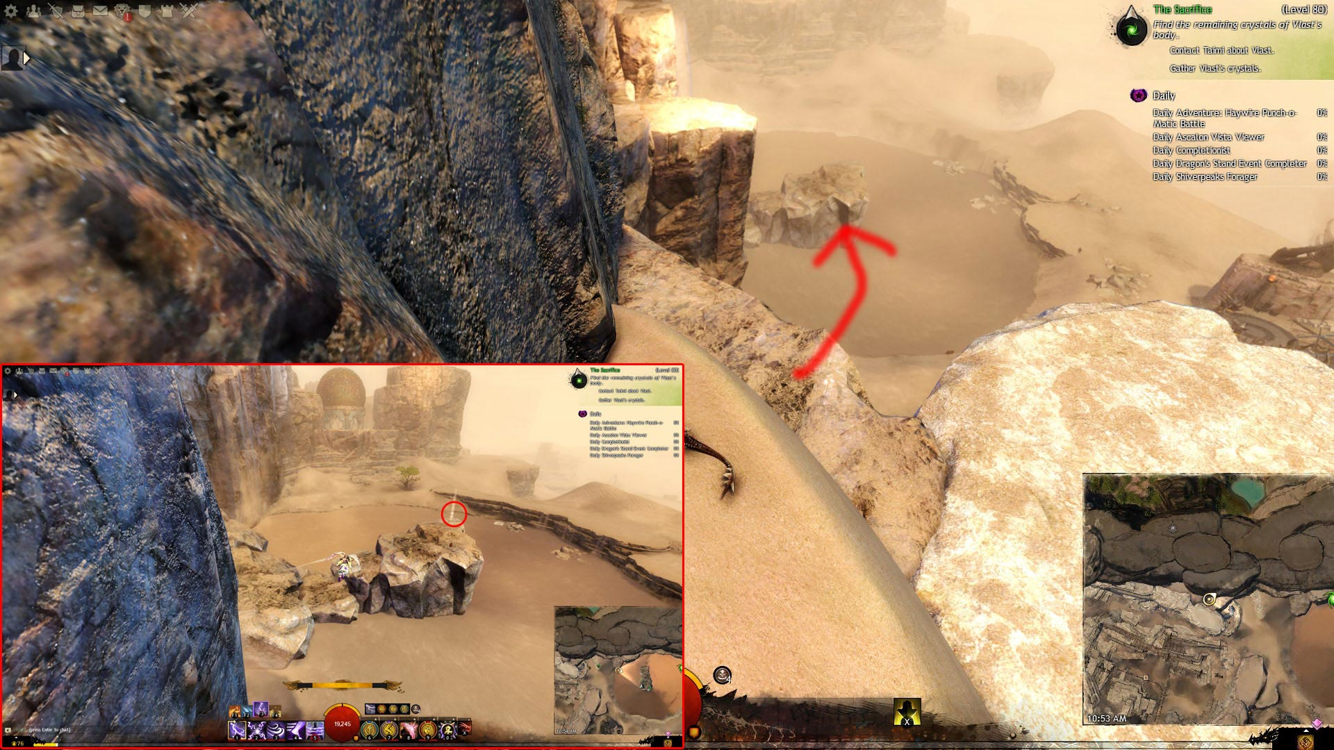 GW2 Sifuri Quicksand Mastery Point Path of Fire