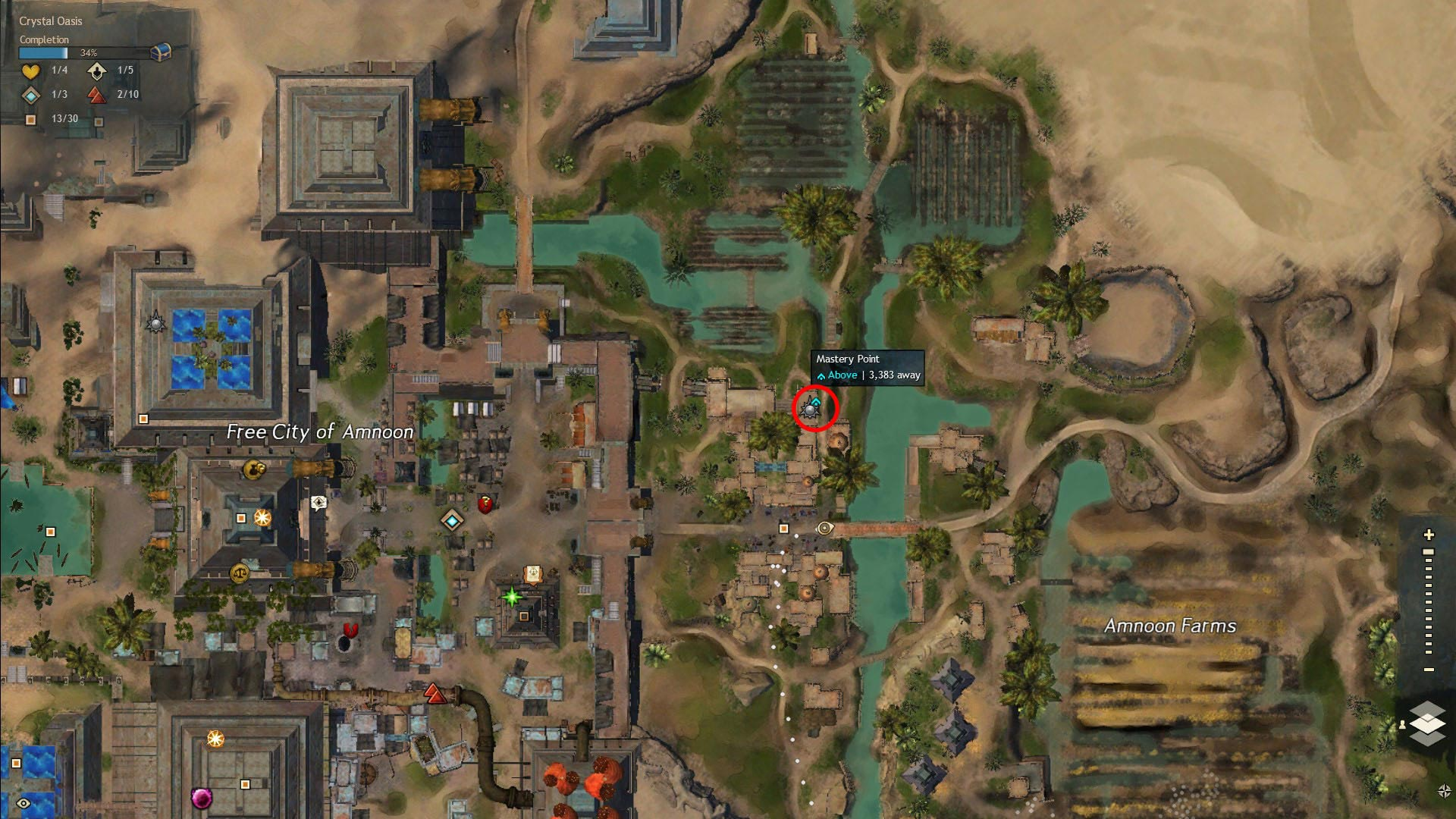Path of Fire Amnoon Bazaar Mastery Point Location