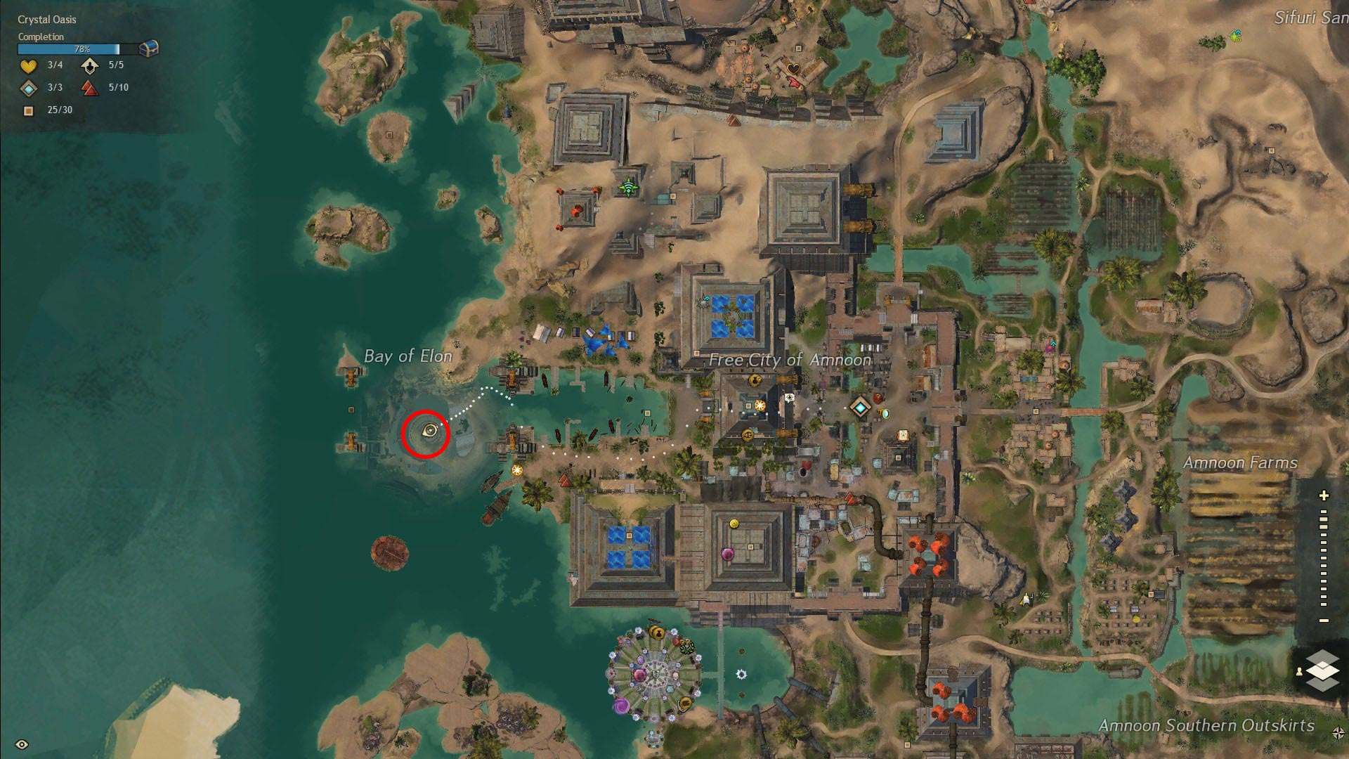 Where to Find Mastery Point in Old Amnoon Bay of Elon