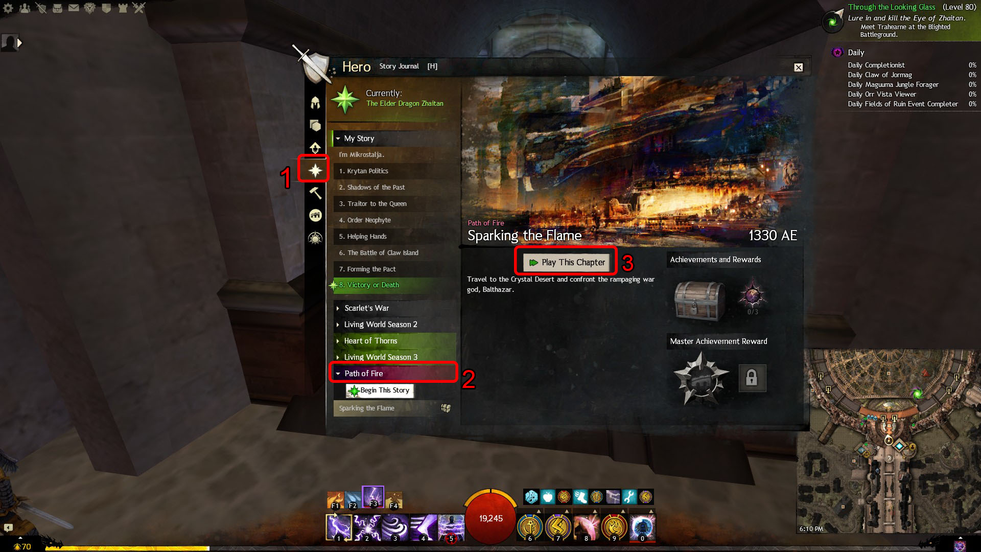 guild wars 2 how to start path of fire expansion